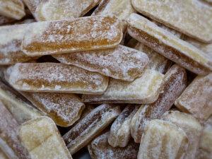 Bonbon Ingwer Honig Stäbchen kandiert (scharf)