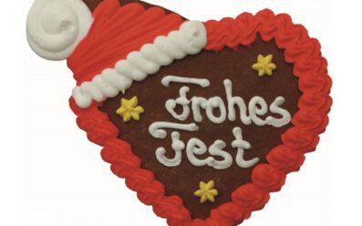 Lebkuchenherz Frohes Fest 80g
