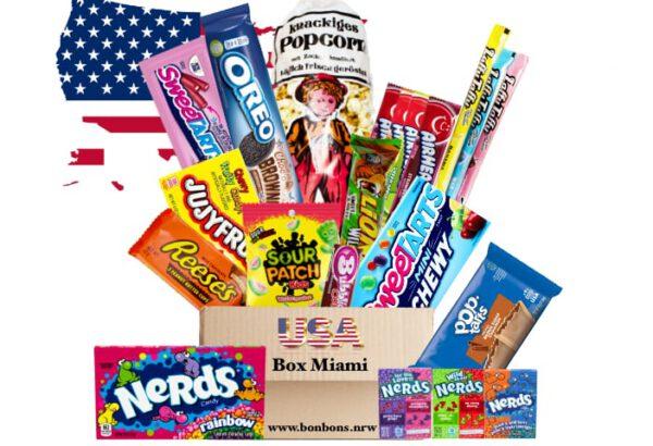 USA Box Miami amerikanische Süßigkeiten